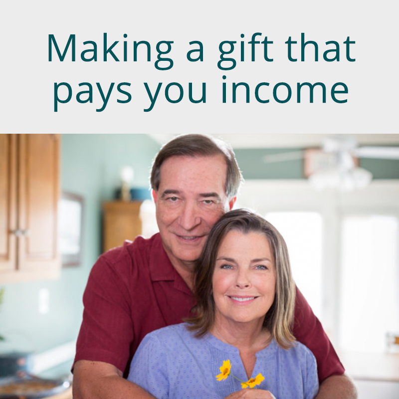 Making a gift that pays you income